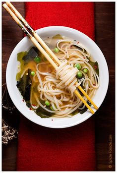 Easy Miso Udon Soup by spiciefoodie: Comfort food! #Soup #Miso #Udon_Noodle