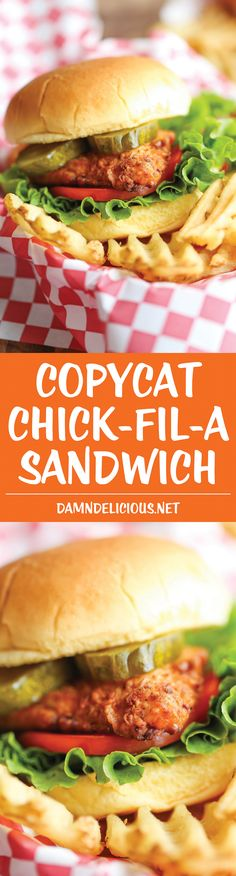 Copycat Chick-fil-A Sandwich - You won't believe how easy this copycat recipe is, and it tastes 100000x better than the original! You can't beat that!
