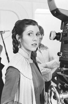 Carrie Fisher (Princess Leia) - Behind the scenes of Star Wars