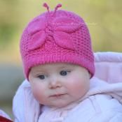 Lady Butterfly Baby Hat - via @Craftsy