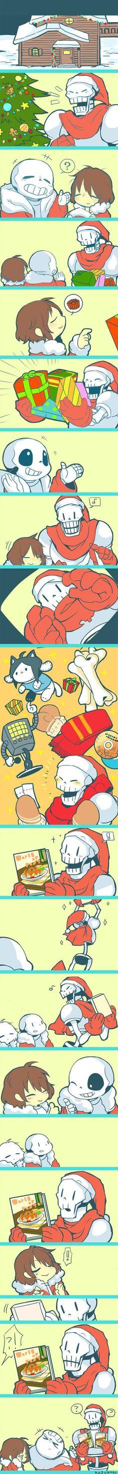 Undertale_Christmas+by+kuzukago.deviantart.com+on+@DeviantArt