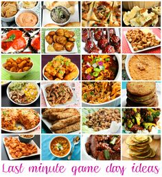 Last minute game day snack ideas from tablefortwoblog.com