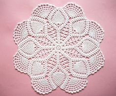 White Crochet Doily Cotton Center Piece by HandcraftedorVintage, $55.00
