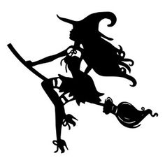 Silhouette Design Store - View Design #156316: witch on broom