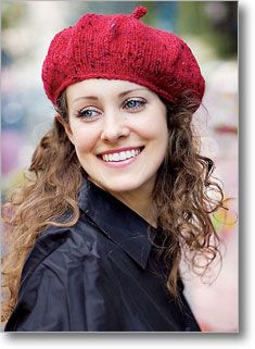 Red Beret + curly brown hair :)