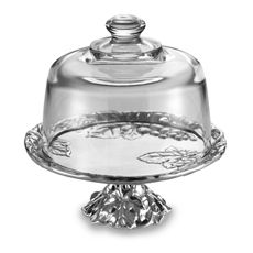 Can't have too many cake plates!  Arthur Court Designs Grape Footed Cake Plate with Glass Dome