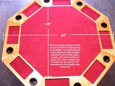 Poker Table dimensions & plans