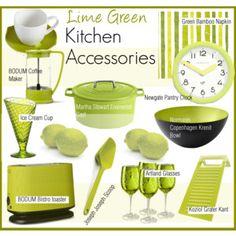 Lime Green Kitchen Accessories