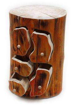 Baumstamm mit 5 Schubladen BS-008OR / Schmuck Schatulle / Handgemachtes Unikat: Amazon.de: Auto