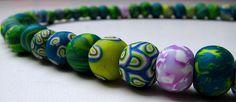 polymer clay beads by MissMesssy, via Flickr