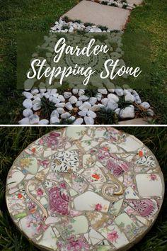New DIY Garden Stepping Ideas #gardenstonepath Garden Steps, Easy Garden, Amazing Gardens, Beautiful Gardens, Outdoor Ideas, Backyard Ideas, Outdoor Decor, Garden Stepping Stones, Stone Path