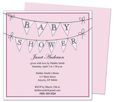 Baby Shower Invitations : PennantGirl Printable DIY Invitation Template