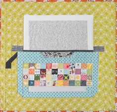 Free project with Heidi Staples: Typewriter Mini Quilt