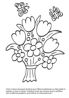 Image result for coloriages printemps