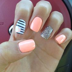 45 Gorgeous Nail Art Designs Ideas For Short Nails Short Nail Designs, Simple Nail Designs, Nail Art Designs, Nails Design, Diy Nails, Cute Nails, Design Ongles Courts, Nail Art For Beginners, Nails First