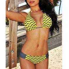 d2a5bde037302 Amazon.com  Zmart Sexy Women Boho Style Bathing Suit Two Pieces Halter  Bikini Sets