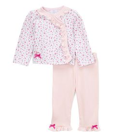 Another great find on #zulily! Floral Side-Snap Rosebud Top & Leggings - Infant #zulilyfinds