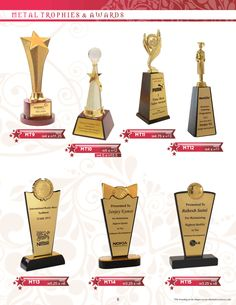 Elegant Metal trophies....