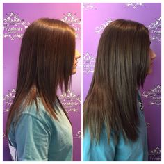 Look at the difference 10 #hotheadextensions can make!  Catelyn Hooser added 5 extensions on each side of her guests hair to create thickness. #freshairsalon #freshairstylist #extensions #fayettevillear @catehooser