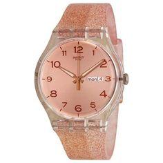 correa malla reloj swatch pink glistar suok