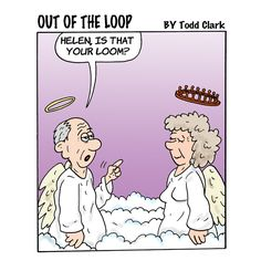 Once a crafter, always a crafter ... #iloveyarn #humor #loom #yarnlove #yarnaddict #yarnstash #yarn #yarncraft #funny (Out of the Loop is created for Lion Brand by Todd Clark. You may know him from the Lola comic series!)