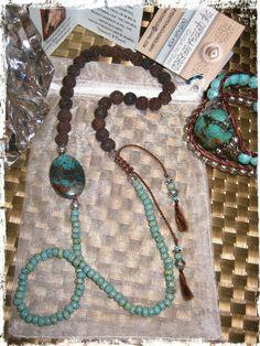 Turquoise Focal Beaded Necklace|Bracelet|Anklet  www.eyegotchacovered.info  #EGCdesign #BohoChic #SouthwestInspired #Love #EarthTones #CalmingColors #Peace #DesignYourOwnLife #SupportYourLocalArtists