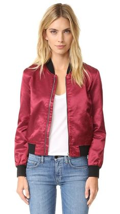 3x1 WJ Satin Collection Bomber Jacket