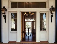 New southern Greek Revival residence with gas lanterns in GA - Historical Concepts