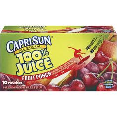 Capri Sun 100 Fruit Punch Juice for sale online Capri Sun Juice, Sunday School Snacks, Cherry Juice Concentrate, Juice For Life, Juicing For Health, Grocery Coupons, Fruit Punch, Mixed Fruit, Low Calorie Recipes
