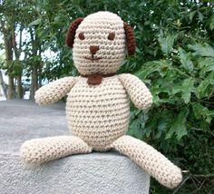 20% off SALE: Plush Toy Dog  Playful Plush Puppy  Brown &