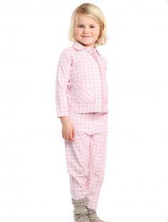 Comfortabele Claesen's meisjespyjama bestaande uit een losse broek en een blouse. De blouse heeft...