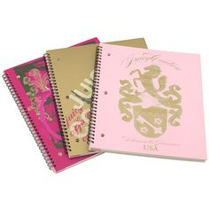 Juicy Couture 'Back to School' Spiral Notebooks (3-Pack) found on Polyvore