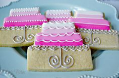 Little Birthday Cakes   Ellie's Bites Decorated Cookies