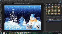 """Урок в Фотошоп для начинающих """"Текст, покрытый снегом + анимация"""" http://www.youtube.com/watch?v=cHfuXKcOtvU"""