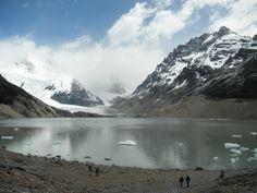Laguna Torre cerca de El Chaltén en plena patagonia argentina.