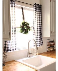 Agreeable buffalo check curtains kitchen Pics, amazing buffalo check curtains kitchen for love the black and white buffalo check curtains house ideas inside elegant farmhouse kitchen curtains 16 gray and white buffalo check kitchen curtains Farmhouse Kitchen Curtains, Kitchen Window Curtains, Kitchen Window Treatments, Home Decor Kitchen, Home Kitchens, Farmhouse Decor, Kitchen Window Decor, Kitchen Ideas, Kitchen Design