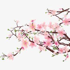 Flores de color rosa, Watercolor Flowers, Estilo Chino, Tinta Flores Imagen PNG