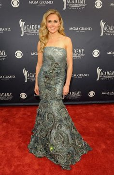 Academy of Country Music Awards Red Carpet Retrospective: jean fares couture worn by laura bel bundy 2011