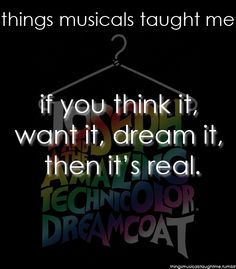 Things musicals taught me - Joseph and the Amazing Technicolor Dreamcoat - Andrew Lloyd Webber
