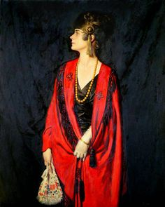 LARGE SIZE PAINTINGS: Howard SOMERVILLE The Red Burnous