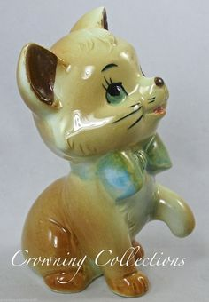 Enesco Toulouse THE Aristocats Figurine Walt Disney Productions Ceramic Kitten | eBay