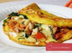 No takie śniadanko to ja rozumiem! Pyszne, proste i baaaaaardzo sycące :) Omlet nafaszerowany mnóstwem warzyw, przypraw, z lekkim akcentem żółtego sera.