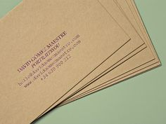 Identity and business cards for David Gómez Maestre designed by Play and Type.