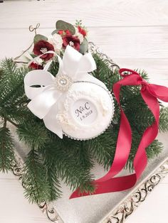 Christmas Ornament Personalized For Couple Engaged Christmas Ornament Handmade New Home Baby Announcement Crafts Baby House Warming Gift Luxury Christmas Decor, Wedding Christmas Ornaments, White Christmas Tree Decorations, Mother Christmas Gifts, Gold Christmas Tree, Personalized Christmas Ornaments, Handmade Ornaments, Christmas 2019, Christmas Crafts