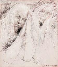 Barbara Hepworth Two Heads of Lisa (mauve)