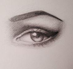 Eye, pencil drawing - Chloe Worswick