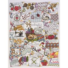 "Stitching ABC Counted Cross Stitch Kit-16""X20"" 14 Count"