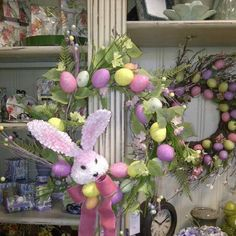 Easter home decor | Easter Wreath | Available at Blu Ivory Home Decor Houston