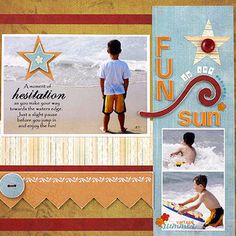 Multiphoto Vacation Scrapbook Pages - Whether you're traveling by plane, train, or automobile, share all the memories of your trip in multiphoto vacation layouts. See more on site.