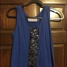 Vera Wang lavender label sequin tank Royal blue sequin tank Vera Wang Tops Tank Tops